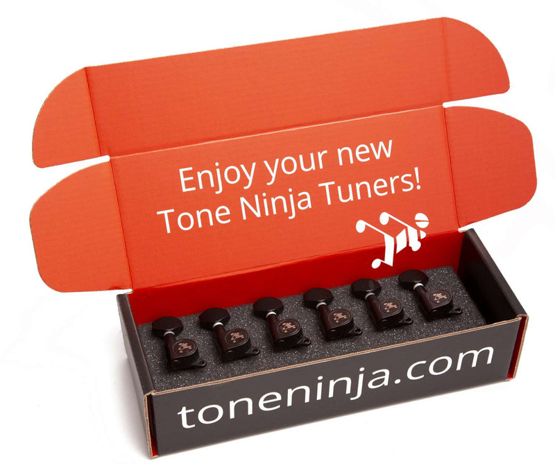 Genuine Tone Ninja Tuners, 6 Inline non-staggered, Black