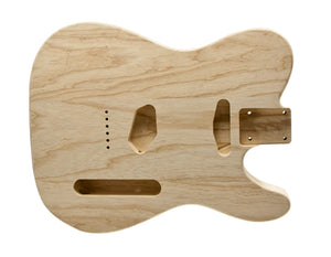 Genuine WD Music USA Made Telecaster Body Unfinished Swamp Ash