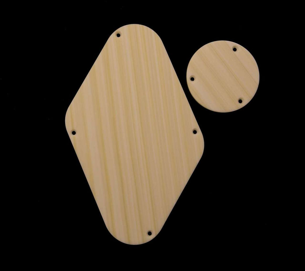 Tone Ninja Rear Covers for PRS Single cut, matched pair Elephant Ivoryoid