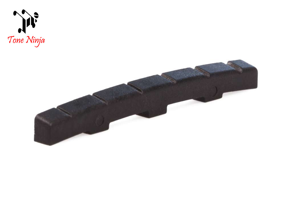 Tone Ninja USA Made Slotted Nut for Fender, G&L, Black 5 Pack TN-NUT-001-B5