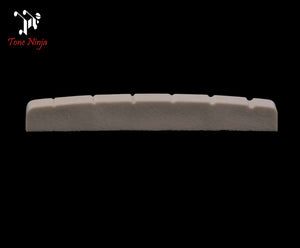 Tone Ninja USA Made Slotted Nut Flat bottomed Fender, Musicman White TN-NUT-002-W1