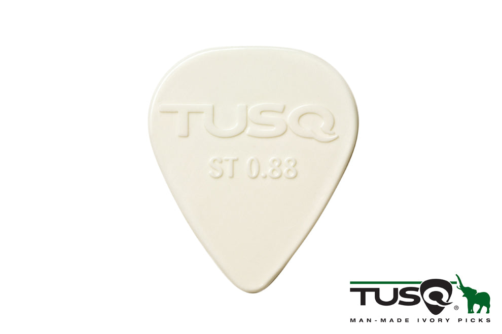 Graph Tech Tusq Picks Standard Shape 0.88mm Bright Tone White 72 pieces