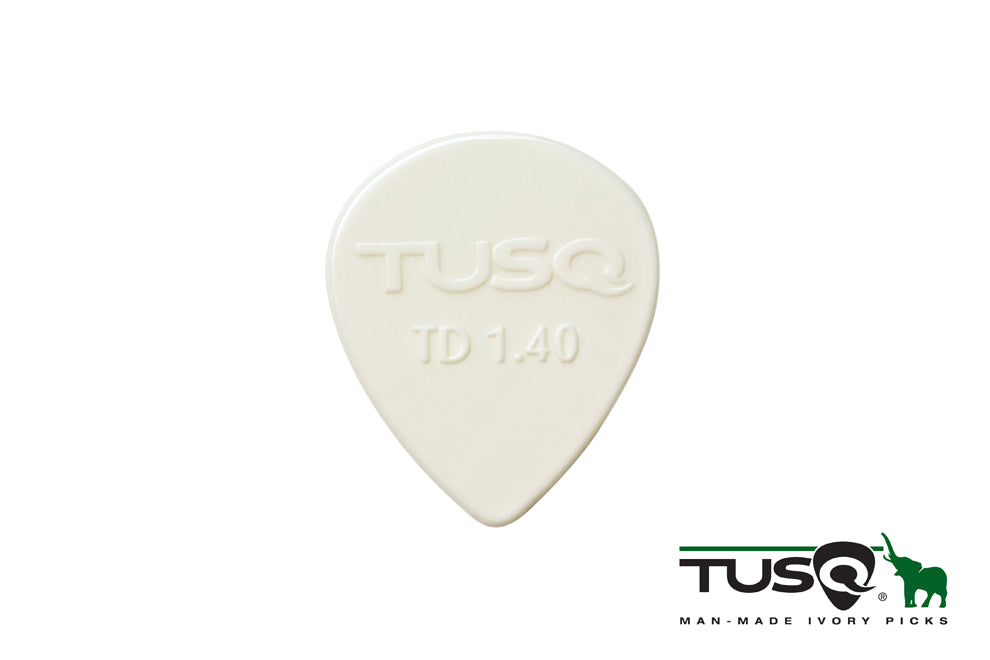Graph Tech Tusq Picks Teardrop Shape 1.40mm Bright tone 6 pieces