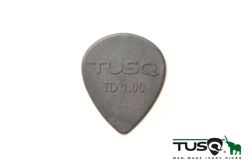 Graph Tech Tusq Picks Teardrop Shape 1.00mm Deep Tone Gray 6 pieces