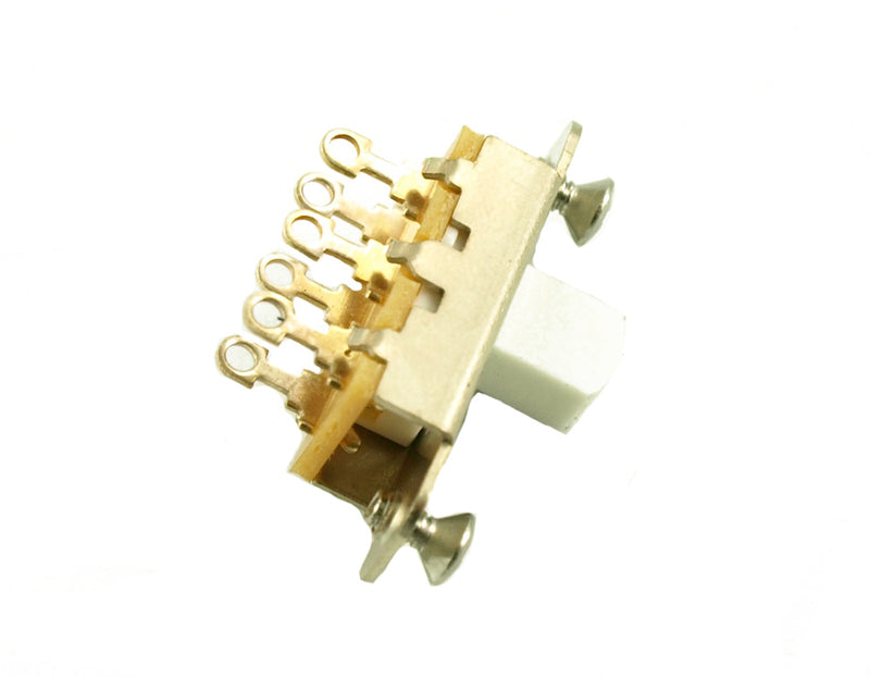 Genuine Switchcraft Slide Switch Jazzmaster/Jaguar White Knob