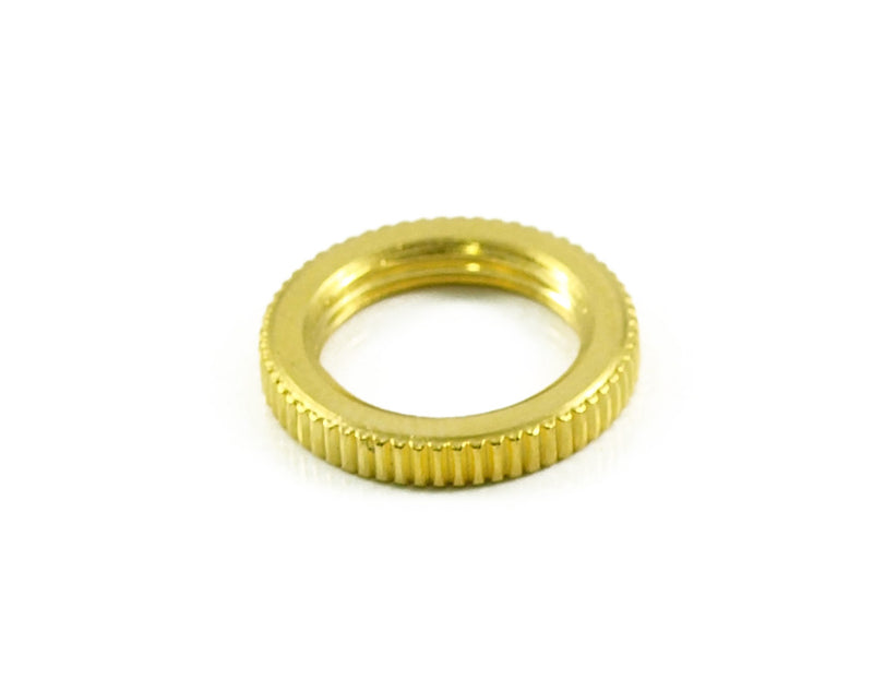 Genuine Switchcraft Knurled Toggle Nut Gold