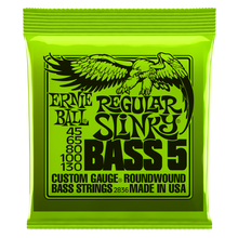 Load image into Gallery viewer, Ernie Ball Regular Slinky 5-String Nickel Wound Electric Bass Strings