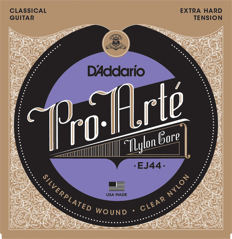 D'Addario EJ44 Pro-Arte Nylon Classical Guitar Strings, Extra Hard Tension