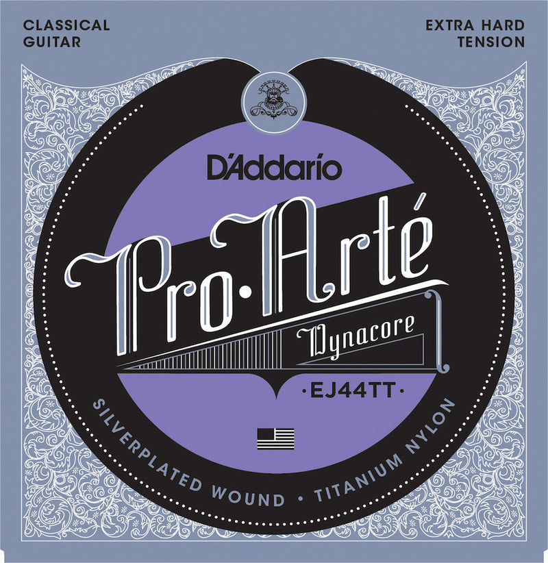 D'Addario EJ44TT ProArte Classical Guitar Strings Titanium Treble X-Hard Tension