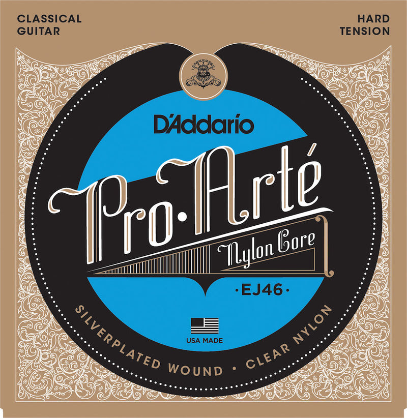 D'Addario EJ46 Pro-Arte Nylon Classical Guitar Strings, Hard Tension