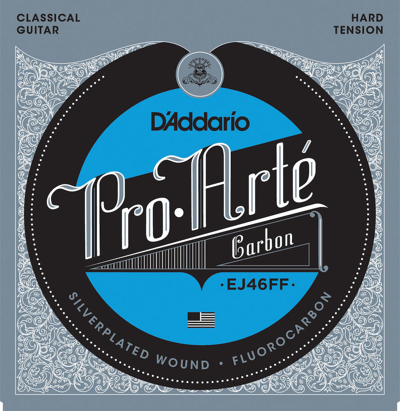 D'Addario EJ46FF Pro-Arté Carbon Classical Guitar Strings, Hard Tension
