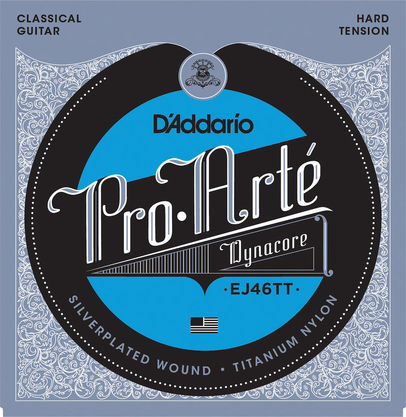 D'Addario EJ46TT ProArte Classical Guitar Strings Titanium Trebles Hard Tension