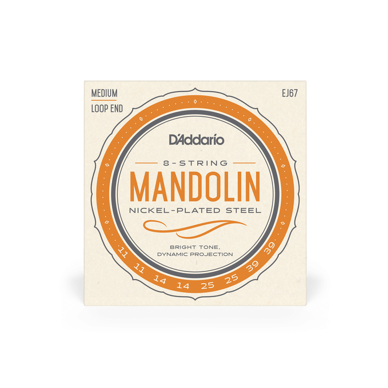 D'Addario EJ67 Nickel Mandolin, 11-39