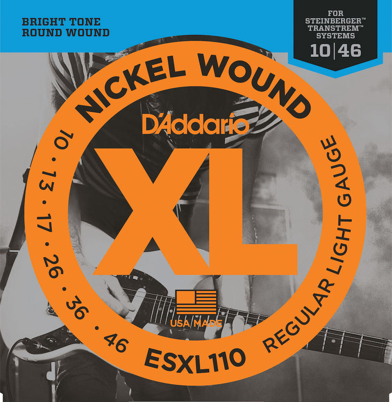 D'Addario ESXL110 Nickel Wound Electric Guitar Strings, Light, Double Ball 10-46