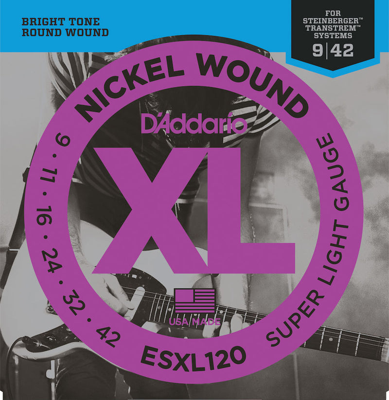 D'Addario ESXL120 Electric Guitar Strings Super Light Double Ball 09-42
