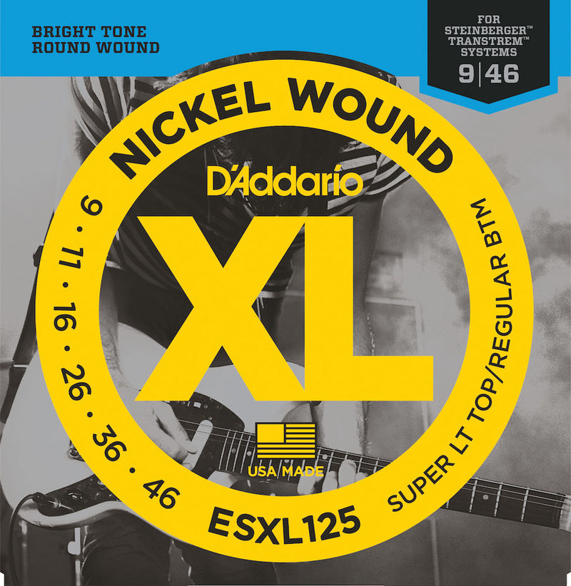 D'Addario ESXL125 Electric Strings Super Light Top/Reg Bottom Double Ball 09-46