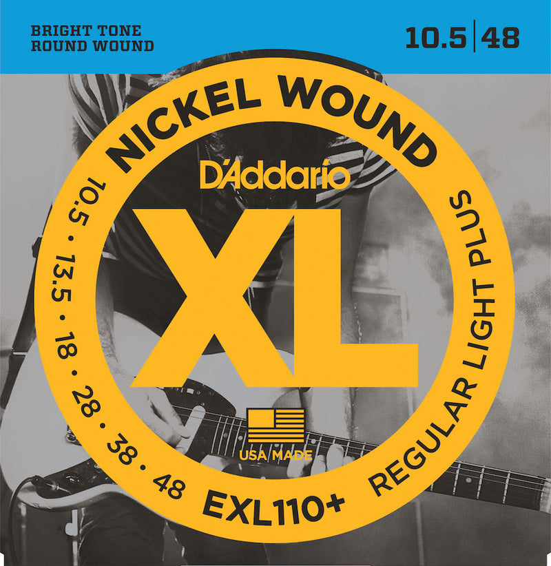 D'Addario EXL110+ Nickel Wound Electric Guitar Strings Light Plus 10.5-48