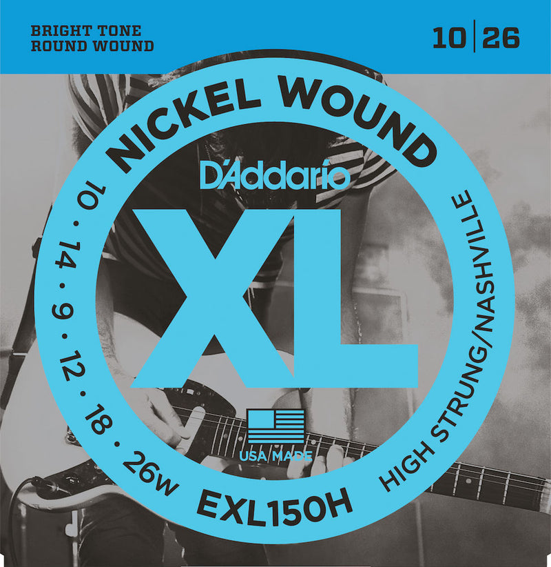 D'Addario EXL150H Guitar Strings, High-Strung/Nashville Tuning, 10-26