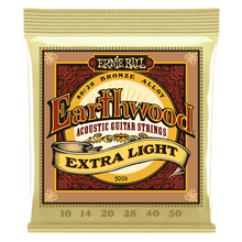 Load image into Gallery viewer, Ernie Ball Earthwood Extra Light 80/20 Bronze Acoustic Guitar Strings