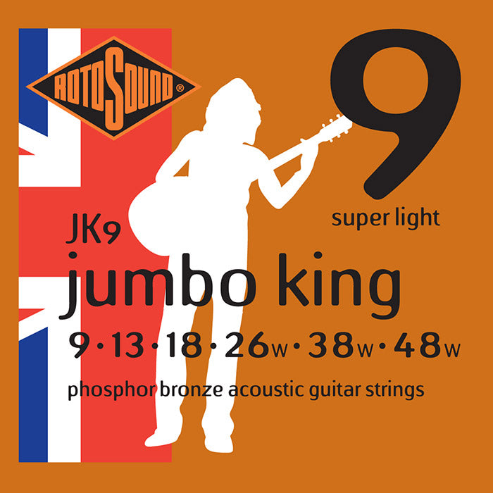 Rotosound Jumbo King Phosphor Bronze Super Light strings 9-48 JK9