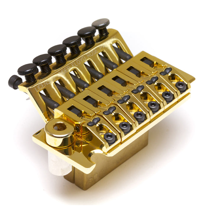 Graph Tech LB63 Ghost Loaded Floyd Rose Style Locking Bridge - Gold