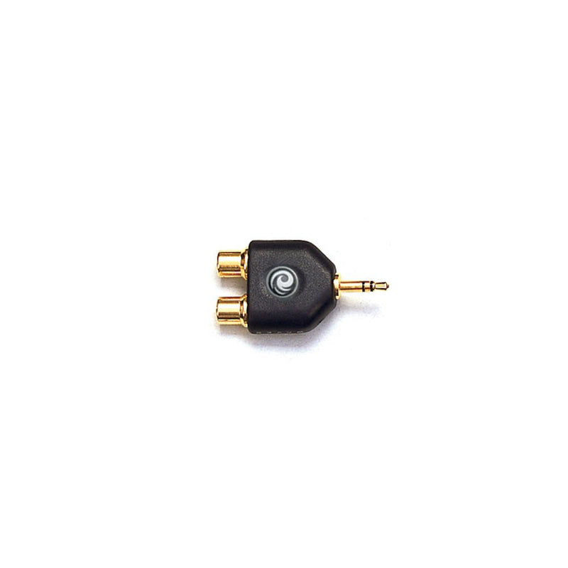 D'Addario 1/8 Inch Male Stereo to Dual RCA Female Adaptor