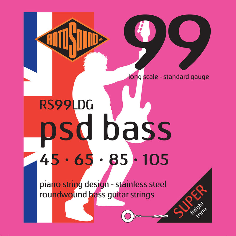 Rotosound PSD Bass 99 Contact Core Standard 4 String 45-105 RS99LDG