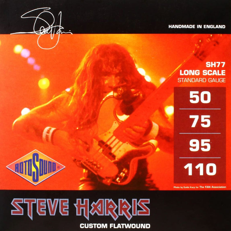 Rotosound Steve Harris Monel Flatwound Signature 4 String Bass 50-110 SH77