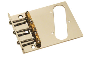 Hipshot Stainless Steel 3 Compensated Saddle Tele Bridge - 3 Hole mounting