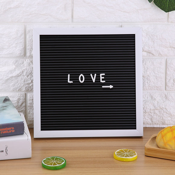 High Quality 25cmx25cm White Frame Message