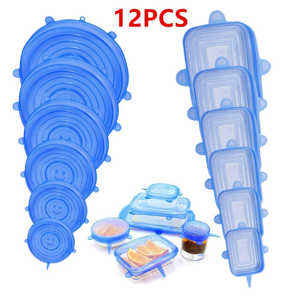 12pcs Stretchable Food Cover Reusable