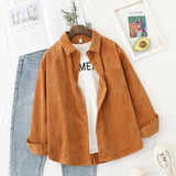Corduroy Shirts Womens Tops