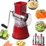 Multi-function rotary grater vegetable shredded