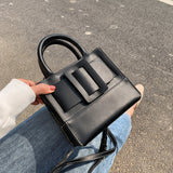 Mini Contrast Color PU Leather Crossbody Bags