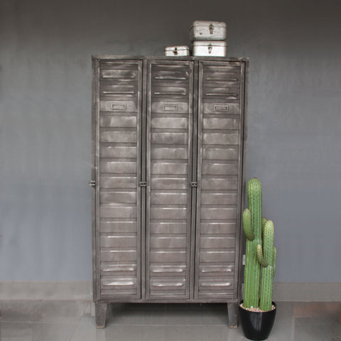3 Door Restored Industrial Metal Locker