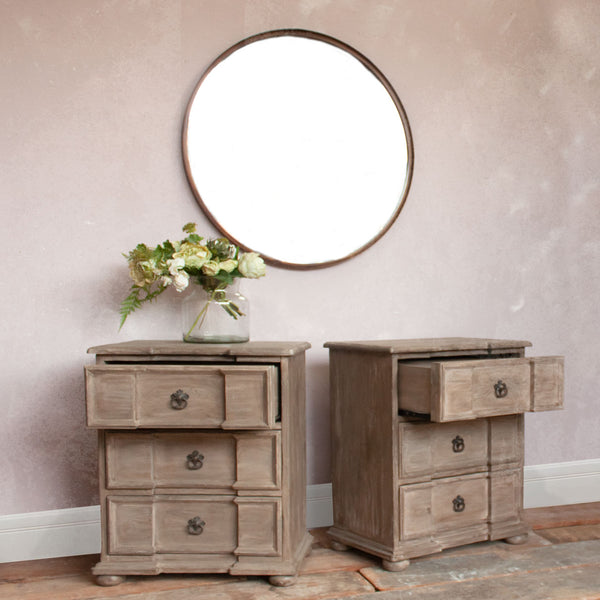3 Drawer Imperial Bedside Tables