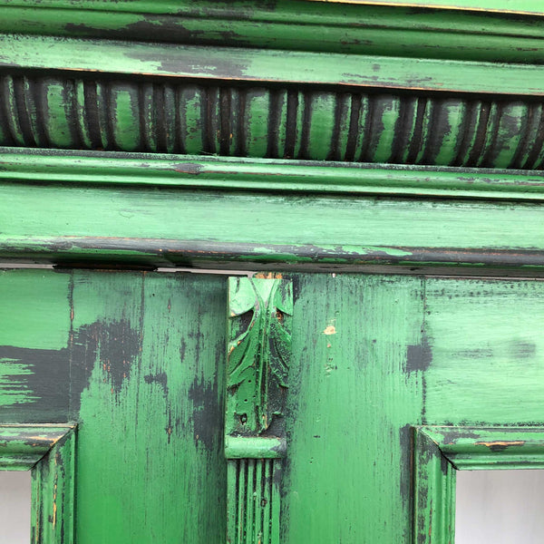 Vintage Green Display Cabinet