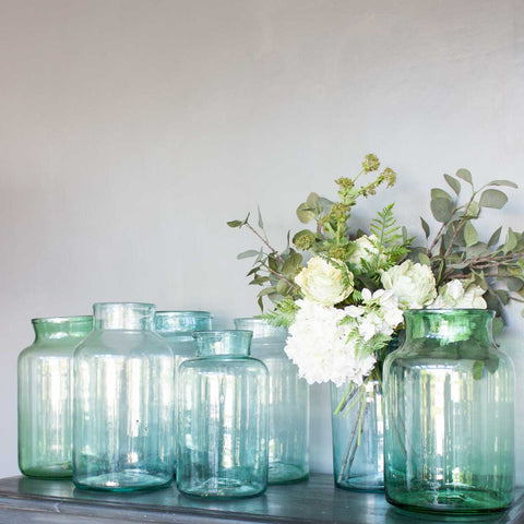 HAND BLOWN BOTTLE VASES