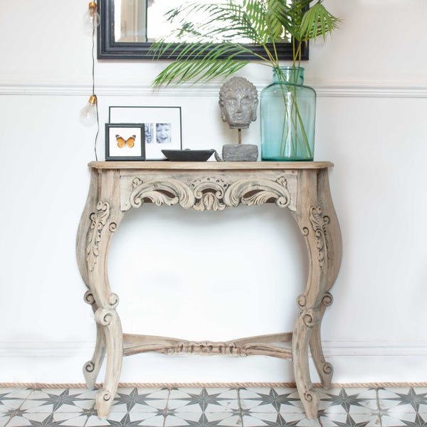 Ornate Wood Console Table