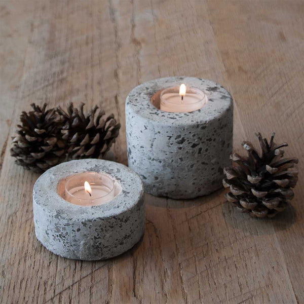 Round Concrete Tea Light Holders