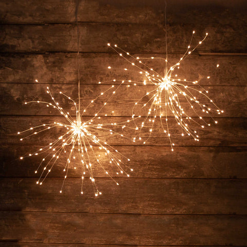 Sparkling Outdoor Indoor Starburst Lights 30 cm - Copper