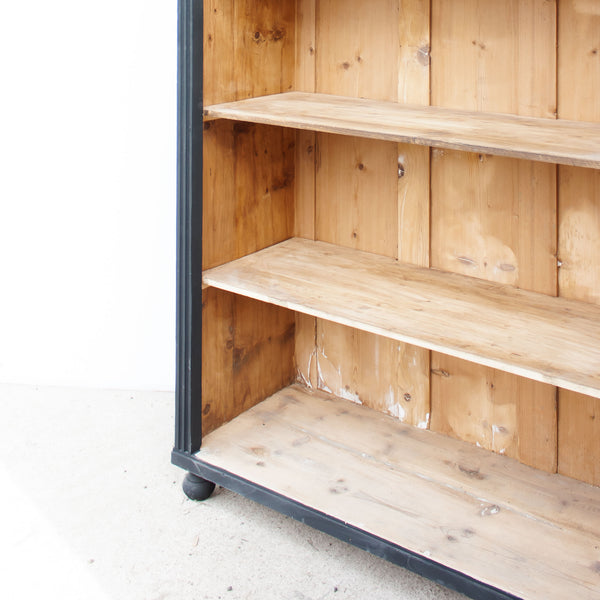 Vintage Black Display Bookcase