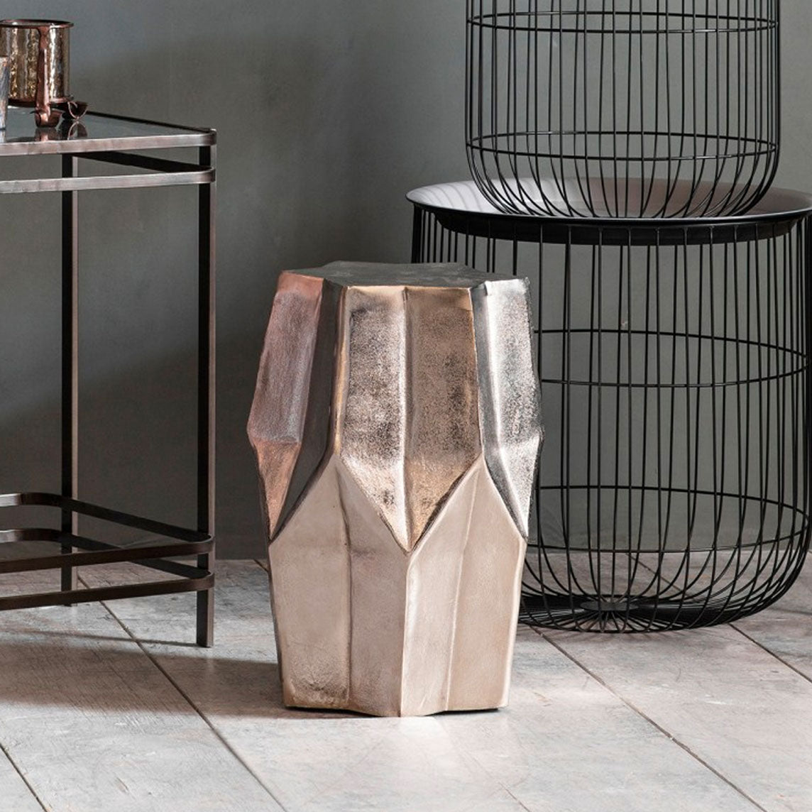 Britton Copper coloured Side Table