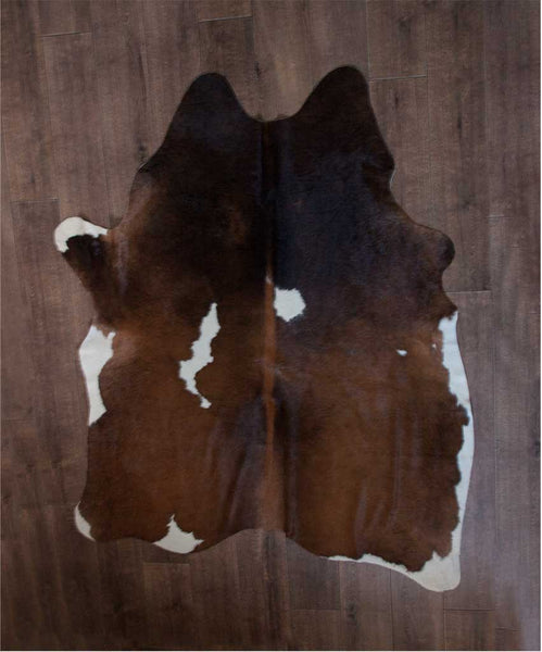 Brown & White Cow Hide Rug