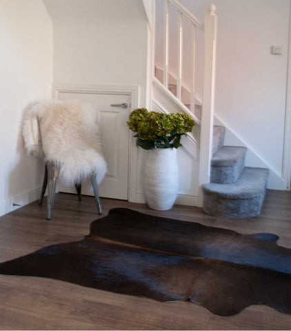 Dark Brown Cow Hide Rug