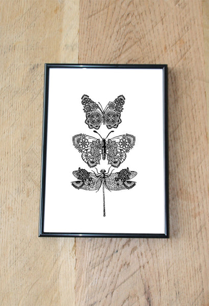 LACY BUTTERFLY PRINT ARTWORK