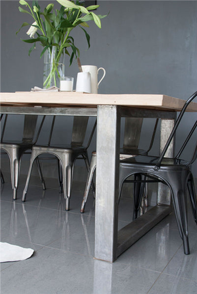 4 seater industrial table