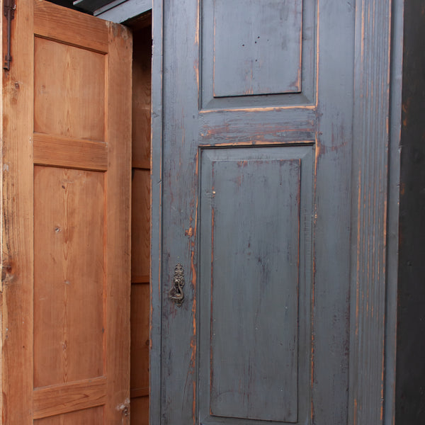 Vintage Wooden Grey Wardrobe