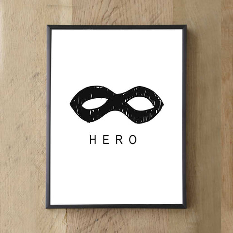 Word Print Super Hero