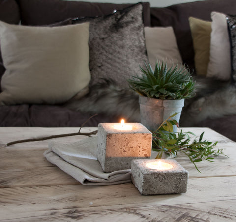 Concrete Square tea light Holder